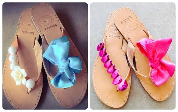 collage sandals