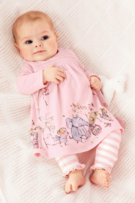 1-set-retail-Baby-girls-Spring-Casual-clothes-suit-Cartoon-pink-dress-striped-pants-Baby-girls