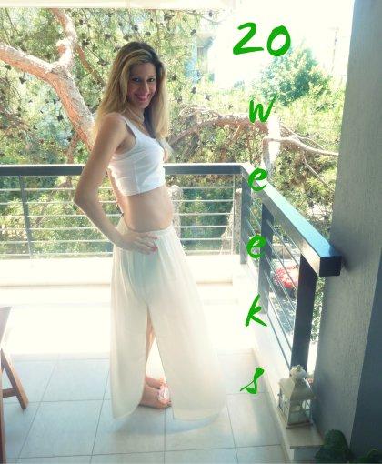 1η εγκυμοσύνη-20η εβδομάδα με κοιλίτσα σχεδόν ανύπαρκτη